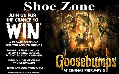 Watch Goosebumps with your friends and Shoe Zone
