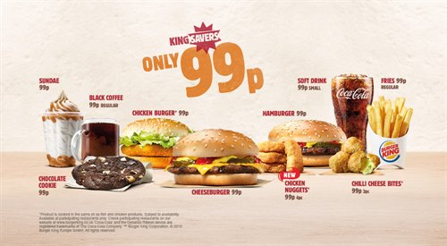 Only 99p each at Burger King