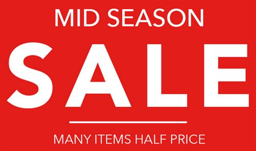 Peacocks Mid-Season Sale