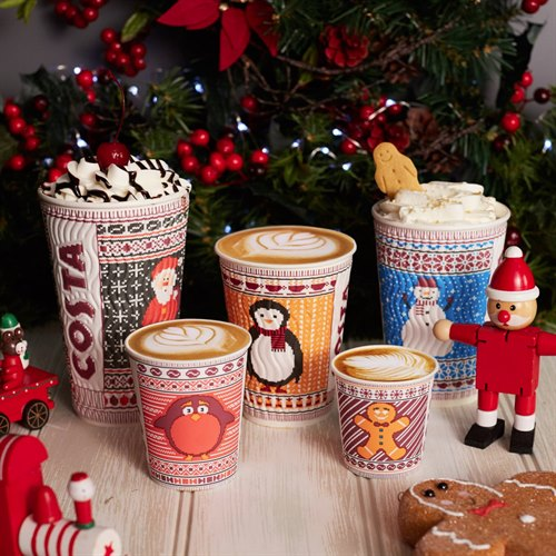Costa's Christmas Menu is now Available