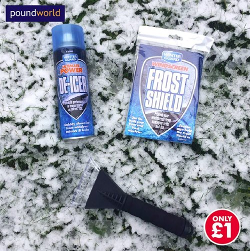 Stock up on Winter Essentials for your Car at Poundworld