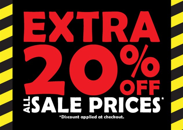 Enjoy a further 20% off all Sale Prices at Shoe Zone